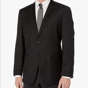 Adolfo Black Comfort Stretch Suit Jacket